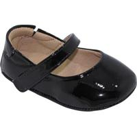 Sapato Boneca Com Tira - Preto- Luluzinhaluluzinha