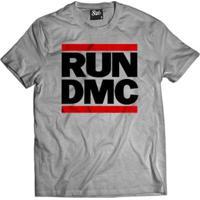 Camiseta Skull Clothing Run Dmc Masculina - Masculino-Cinza