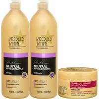 Kit De Shampoo & Condicionador Neutral Pure & Balance + Máscjacques Janine