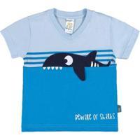 Camiseta Céu Bebê Menino Meia Malha 36156 - Masculino-Azul