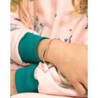Pulseira Infantil De Ouro 18K Algema Modelo Bracelete