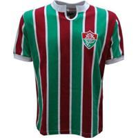 Camisa Liga Retrô Fluminense 1976 - Masculino-Vermelho+Verde