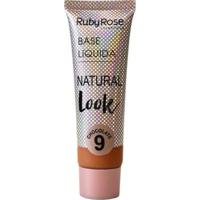 Base Líquida Natural Look Chocolate Ruby Rose L9 - Feminino-Incolor