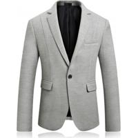 Blazer Masculino Texturizado - Cinza Xgg