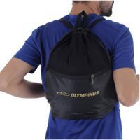 Gym Sack Olympikus Essential - 8 Litros - Preto/Ouro