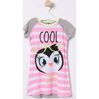 "Camisola ""Cool Style"" - Pink & Cinzapuket"