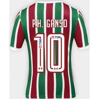 b8d76a9e69fec Netshoes  Camisa Fluminense I 17 18 P.H. Ganso Nº 10 Torcedor Under Armour  Masculina - Masculino