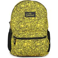 Mochila Infantil Pacific Simpsons Faces Masculina - Masculino-Amarelo
