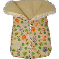Porta Bebê Calupa Saco De Dormir Com Zíper Estampa Safari