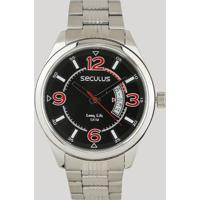 Relógio Analógico Seculus Masculino - 23647G0Svna2 Prateado - Único