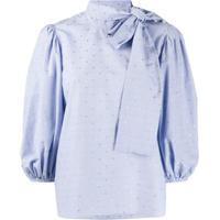 Redvalentino Blusa Listrada - Azul