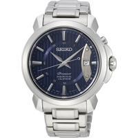 Relógio Seiko Masculino Snq157B1 D1Sx Automático Pulseira E Caixa Aço Prateado Mostrador Azul
