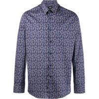 Fendi Camisa Estampada 'Jaguar' - Azul