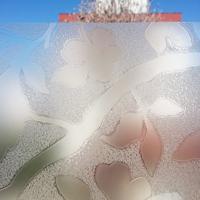 Adesivo De Vidro Jateado Floral