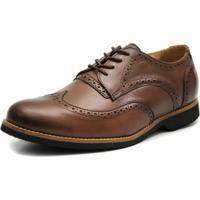 Sapato Social Shoes Grand Europa Marrom Tamanho Especial