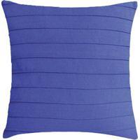 Capa Para Almofada Drapeada- Azul- 45X45Cm- Santsanta Luzia