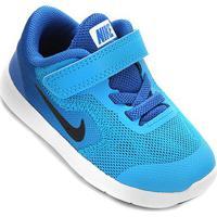 Tênis Infantil Nike Revolution 3 - Masculino-Azul+Branco