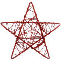 Estrela Rattan Decoraçáo Natal 25Cm Vermelha