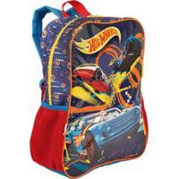 Mochila Infantil Hot Wheels 19M - Masculino-Azul