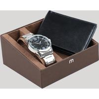 819c1978595 CEA  Kit De Relógio Analógico Mondaine Masculino + Carteira -  99317G0Mgne1K1 Prateado - Único