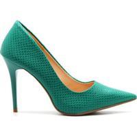 Scarpin Royalz Escama Penélope Feminino - Feminino-Verde