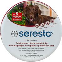 Coleira Antipulgas E Carrapatos Seresto Para Cães Acima De 8Kg Com 1 Unidade De 45G