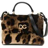 Dolce & Gabbana Kids Bolsa Tiracolo Animal Print - Marrom