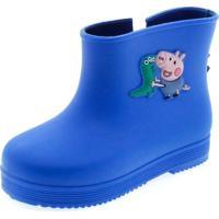 Bota Infantil Masculina Peppa E George Boot Azul Grendene Kids - 21277