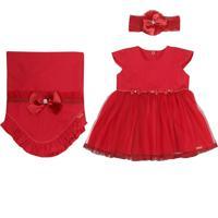 Saída Maternidade Paraíso Moda Bebê Comfort Vermelho