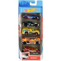 Pack 5 Carrinhos Hot Wheels Hw Rescue - Mattel