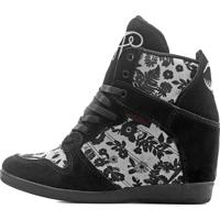 Bota Snearkers By Cris Piza Landfeet - Branco/Preto - Feminino - Dafiti