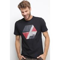 Camiseta Hd Color Block Masculina - Masculino-Preto