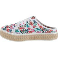 Tênis Open Mule Comitiva Boots Floral Off White