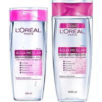 Kit Água Micelar L'Oréal Paris Solução De Limpeza Facial 5 Em 1 200Ml + Água Micelar 400Ml - Feminino-Incolor