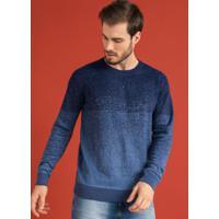 Suéter Masculino Tricô Azul
