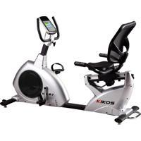 Bicicleta Ergométrica Horizontal Kr 9.1, Painel Em Lcd Multifunções, 16 Níveis De Resistência ,Sensor Cardíaco, Bivolt - Kikos