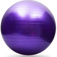 Bola Fitball Ax Esportes 65Cm Roxa Com Bomba - Fa409