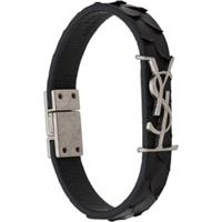 Saint Laurent Opyum Textured Bracelet - Preto
