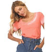 Blusa Calvin Klein Jeans Devorê Degrade Laranja/Branca