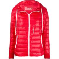 Herno Hooded Quilted-Down Jacket - Vermelho