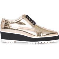 Oxford Metalizado Vinci Shoes - Dourado