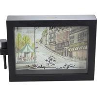 Cofre Mickey Mouse® - Incolor & Preto - 11,5X8X4,5Cmzona Criativa