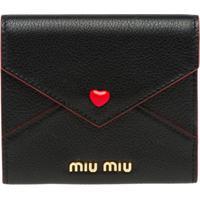 Miu Miu Love Lovo Envelope Pouch - Preto
