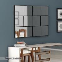 Painel Decorativo- Espelhado & Preto- 75X100X5Cmdalla Costa