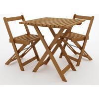 Kit Boteco Mesa Com 2 Cadeiras Cor Stain Jatoba - 23236 - Sun House