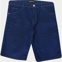 Bermuda Jeans Preston Plus Size Masculina - Masculino-Azul