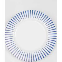 Prato Raso 28 Cm Porcelana Schmidt - Dec. Sol Azul