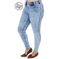 Calça Jeans Cambos Plus Size Feminina - Feminino-Azul