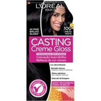 Coloração Casting Creme Gloss L'Oréal Paris 100 Preto Noite - Unissex-Incolor
