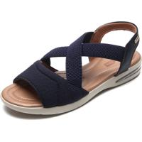 Sandália Comfortflex Tiras Finas Azul-Marinho